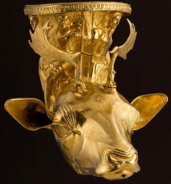 Oldest Golden Tresure Rhyton